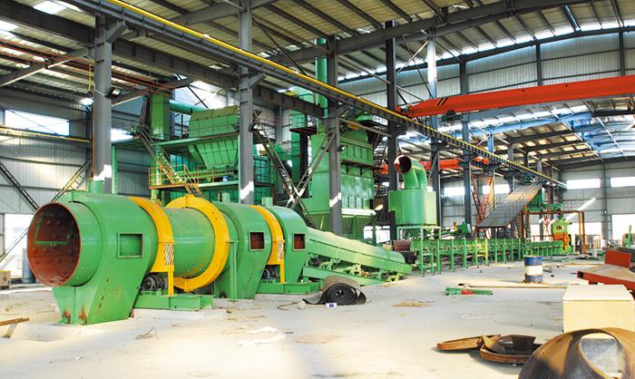 Línea de producción horizontal de arena de molde de hierro